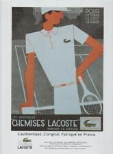Chemises Lacoste Golf Tennis Wear PRINT AD 1997 French Fabrique Vintage Rare