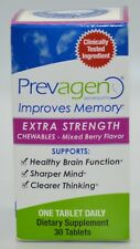 PREVAGEN EXTRA STRENGTH CHEWABLES 30 TABLETS 20MG MIXED BERRY FLAVOR NEW SEALED