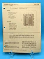 Applied Micro Circuits AMCC 1259 Microcomputer Microprocessor Brochure 1980