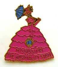 Pin Spilla Lions International Mississippi The Hospitality State cm 3,4 x 4