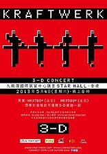"""KRAFTWERK """"3-D CONCERT"""" 2013 HONG KONG TOUR POSTER - Electronic, Synthpop Music"""
