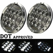 LED Headlamp Headlights Chrome Upgrade Set For Ford Plymouth Classic Car Truck