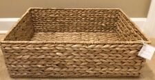 NEW Pottery Barn Newport Basket Sink Console Storage NATURAL SEAGRASS