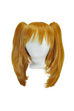 16'' Straight Pig Tails + 12'' Bob Cut Base Wig Set Pumpkin Orange NEW