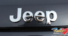 2005-2018 Jeep Wrangler Compass Liberty Chrome Emblem Nameplate Badge Mopar OEM