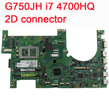 For ASUS G750JH Laptop Motherboard G750JW REV2.1 With i7 4700HQ CPU 2D Connector