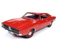 Autoworld 1:18 CLASS OF 69 1969 Dodge Charger R/T Diecast Model Car Red AMM1174