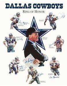 "Dallas Cowboys 20 x 26 Inch Memorial ""Ring Of Honor"" Reproduction Poster"