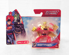 "Red BATMAN Gold Cape Figure Justice League NIB 2 ¼"" Tall"