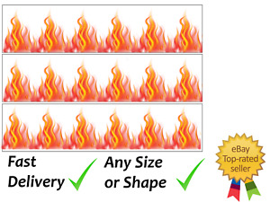 Fire Flames Cake Bands Ribbon Cake side strips Icing or Wafer