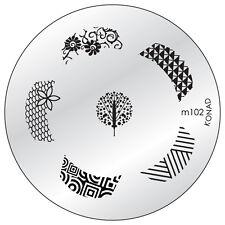 Konad stamping galería de símbolos m102 plate Nails Nail Art Stamp