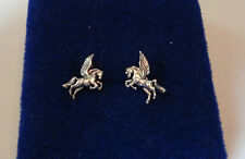 Sterling Silver TINY 10x8mm Pegasus Horse Studs Posts Earrings!