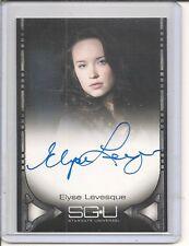 Stargate Universe Elyse Levesque auto card