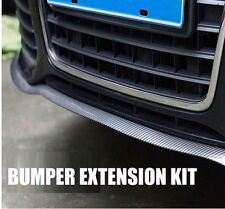 "Carbon Fiber 98"" Front Bumper Lip Splitter Body Spoiler Valence Chin Protector"