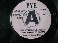 "Tony Hatch - The Wonderful World Of The Brothers. Promo Demo 7"" Vinyl Single."