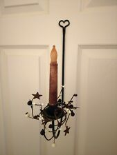 Amish forged wrought iron HEART sconce w/ hardware - Strong hand crafted metal
