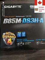 *MINT* GIGABYTE B85M-DS3H-A HDMI USB 3.0 Micro-Atx Intel Motherboard (LGA 1150)