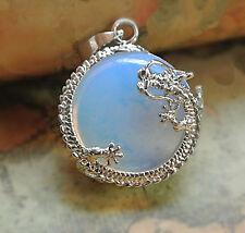 "Beautiful moonstone ""dragon"" pendant necklace"