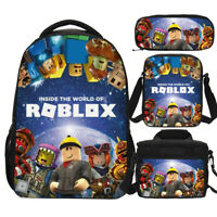 Anime Roblox Children School Backpack Sets Lunchbox Sling Bags Pen Case Kids Lot