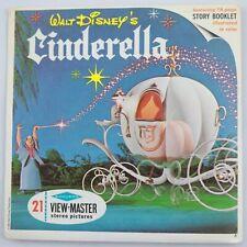Vintage View-master Disney Cinderella 1965 3D reels 3 pack B-318
