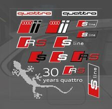 NEW PVC TECH RS AUDI QUATTRO LOGO DECAL CAR STICKERS BADGE LOGO FOR AUDI