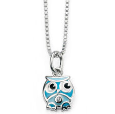 Blue Sterling Silver Fine Diamond Necklaces & Pendants