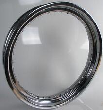 "Wheel Rim, Front 19"" x 2.5"" Drop Centre 40 Hole Chrome (Daytona) Harley Custom."