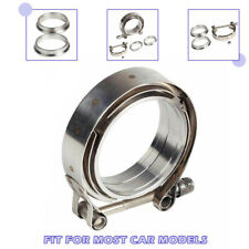 "1pcs for Turbo Exhaust Downpipes Stainless Steel 2.5"" V-Band Flange & Clamp Kit"