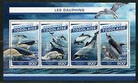 TOGO 2017  DOLPHINS SHEET MINT NH