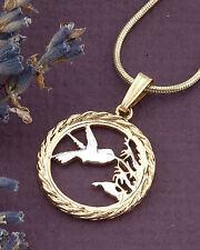 "Hummingbird Pendant, Hummingbird Jewelry, Trinidad Coin Jewelry, 3/4"" ( # 596 )"