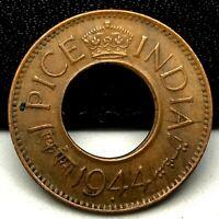 1944-B British India 1 Pice High Grade Bombay Mint High Grade KM# 533