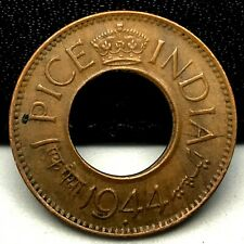 World Coins - India 1 Pice 1944 Coin KM# 533