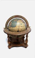 More details for tilso japan vintage wooden decorative rotating globe - used