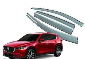 For Mazda CX-5  2017-2020 4Pcs Window Visor Vent Rain Sun Deflectors Guard.