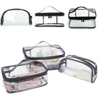 Waterproof Clear Plastic Travel Wash Bag Makeup Bag Cosmetic Toiletry Storage UK