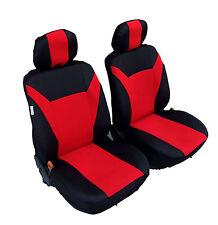 2 vordere Sitzbezüge Schonbezüge für Auto rot schwarz für Alfa Romeo Audi BMW