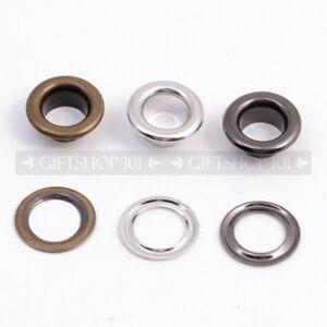25X Leather Rivet Stud Round Hallow Press Rivet Metal Stud for Leather Craft