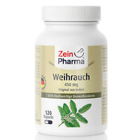 Weihrauch Boswellia  120 Kapseln Tabletten 450mg ZeinPharma Made in Germany