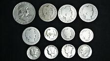 $2.20 Face Value 90% Junk Silver Lot 1907 O Barber Quarter 1900 O Barber Dime