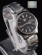 (Gift) + SNK795K1 SEIKO 5 Stainless Steel Band Automatic Men's Black Watch New !