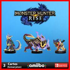 🔥 NOUVEAU ! Lot 3 cartes Amiibo · Monster Hunter Rise · Nintendo Switch