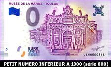 UE HH-1 / MUSEE DE LA MARINE - TOULON / BILLET SOUVENIR 0 EURO / 2018-1