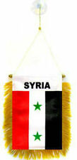 """Wholesale lot 12 Syria Mini Flag 4""""x6"""" Window Banner w/ suction cup"""