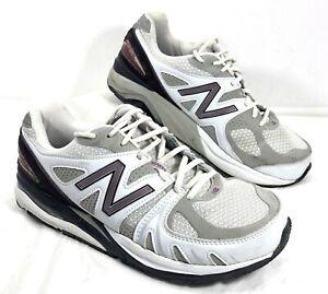 GUC Women's New Balance 1540 White Purple Walking Comfort Shoes Sz 9.5 2E
