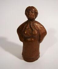 Bronzo Figura Scultura signora contadinella mercato signora paese signora marrone patina bronce