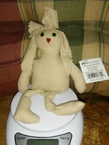 "8"" Darice Antique Muslin Bumpkins Bunny Craft Doll"