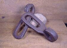 Vintage Rustic Barn Cleaner Chain Links, Farm Gutter Apron Hook. Décor, Maritime