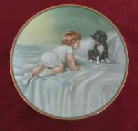 """Who's Sleepy?"" Bessie Pease Gutmann Hamilton Plate w/wall hanger  #186*"