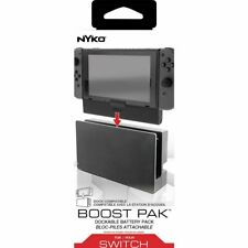 DOCKABLE BATTERY PACK BOOST PACK PER CONSOLE NINTENDO SWITCH POWER BANK NYKO