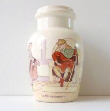 """Pot à moutarde faïence Luneville """"Roi Dagobert"""" French Antique Mustard Pot 1900s"""